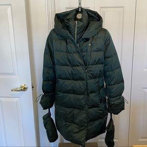 Zara Puffer Down Winter Coat with mittens Sz Med